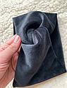 Пов'язка чалма велюр жіноча чорна широка тюрбан тепла, широкая теплая повязка черная, фото 3