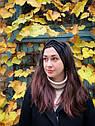 Пов'язка чалма велюр жіноча чорна широка тюрбан тепла, широкая теплая повязка черная, фото 2