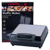Вафельница электрическая Kamille с антипригарным покрытием 1100Вт KM-6701