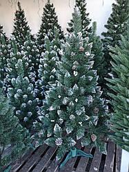 Елка с белой калиной и шишками 1,5 м Рождество с белыми кончиками
