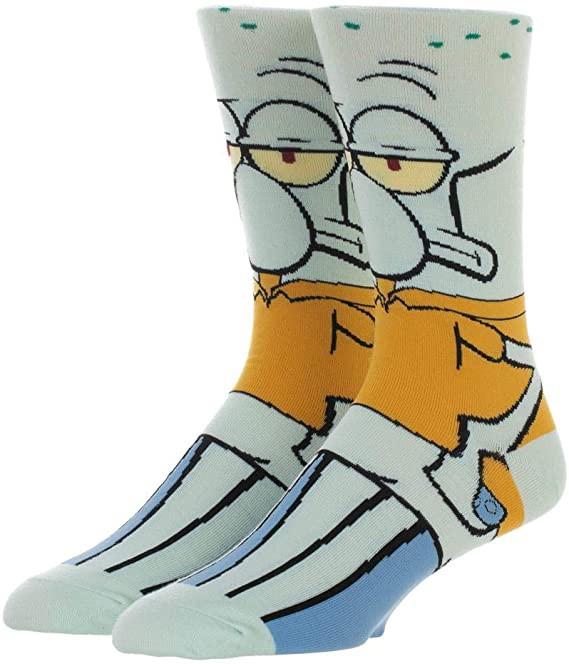 Прикольные высокие мужские носки Сквидвард