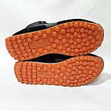 41,42,43 р. Зимові чоловічі кросівки на хутрі Чорні Маломерят, фото 7