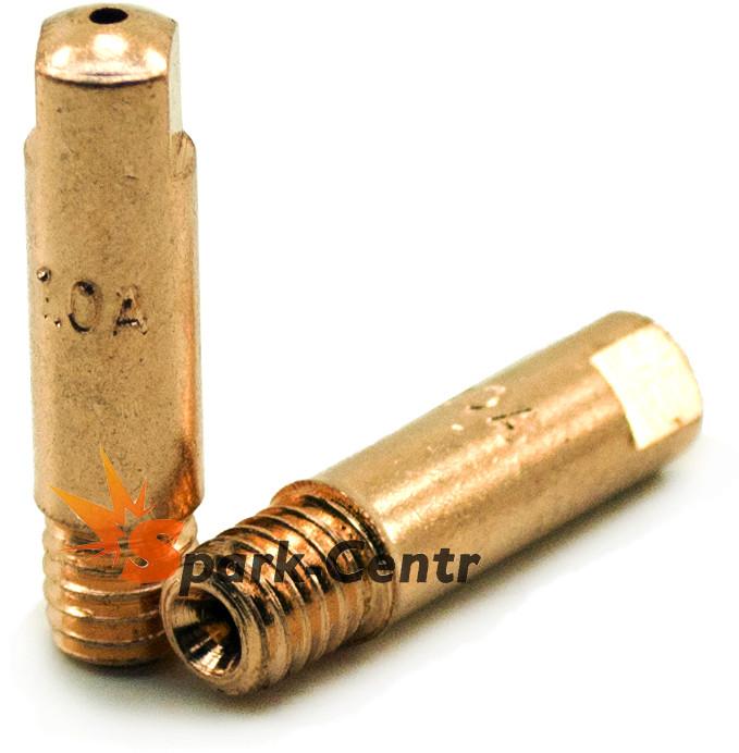 Наконечник токосъемный для алюминия (E-Cu для Al) Ø1,0 мм М6х25 для горелок ABIMIG A(T) 155 LW (MIG/MAG)