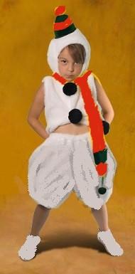 Карнавальный костюм  Снеговик 3-8 лет б/у