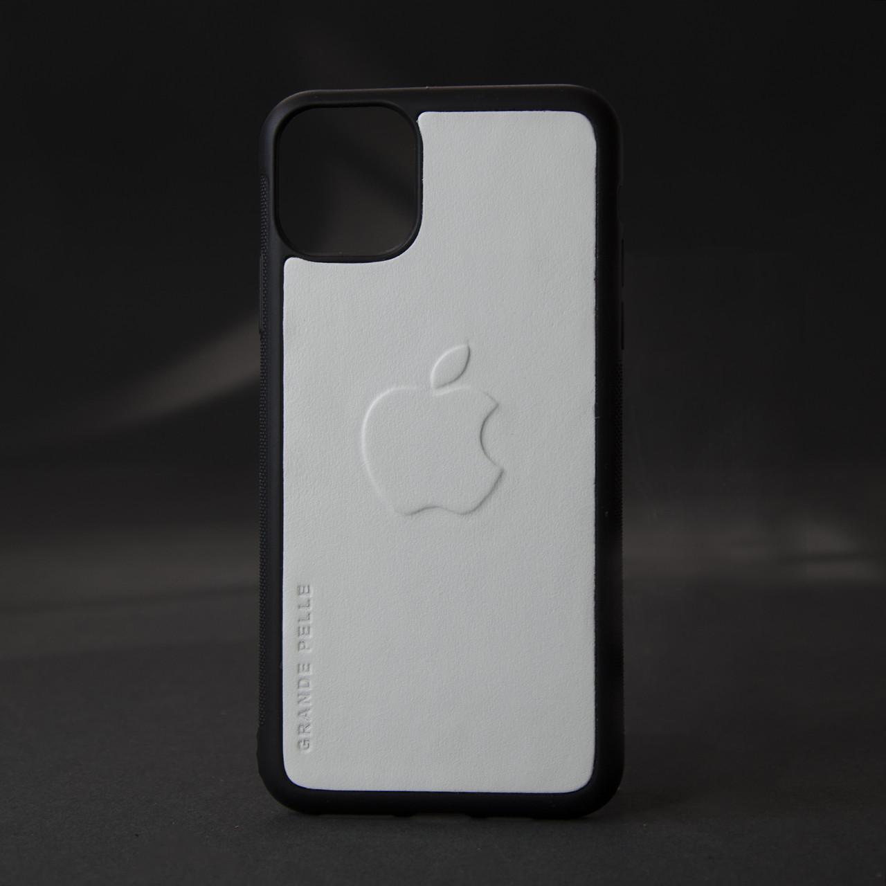 Кейс для IPhone, білий, з металевою вставкою для автотримача