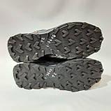 Зимние мужские прорезиненные ботинки на меху Черные, фото 7