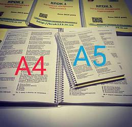 Порівняння розмірів А4 і А5 2