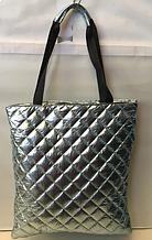 Женские стеганные сумки недорого (СЕРБРО)40*42см