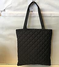 Женские стеганные сумки недорого (ЧЕРНЫЙ)40*42см