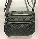 Женские стеганные сумки недорого (СЕРЕБРО)27*32см, фото 2