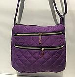 Женские стеганные сумки недорого (СЕРЕБРО)27*32см, фото 6