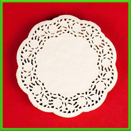 Кругла серветка ажурна паперова D14см ( ціна за 200шт ), фото 2