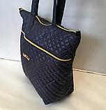 Женские стеганные сумки недорого (ЧЕРНЫЙ)36*45см, фото 3