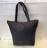 Женские стеганные сумки недорого (ЧЕРНЫЙ)36*45см, фото 2
