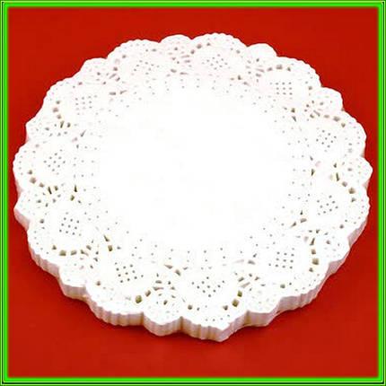 Салфетка круглая ажурная бумажная D16,5см ( цена за 200шт ), фото 2