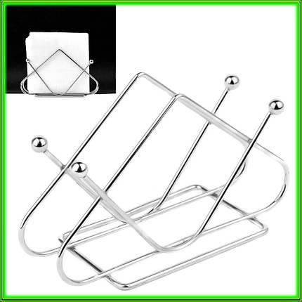 Металева підставка для серветок трикутна 13,5*3*8,5 см ( t3мм), фото 2