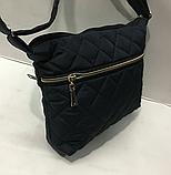 Женские стеганные сумки недорого (ГОЛУБОЙ)22*30см, фото 3
