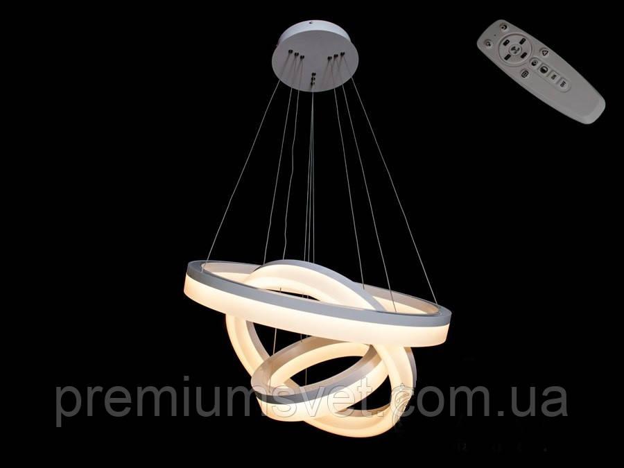 Люстра-кольца на натяжной потолок 8123-600+450+300GR dimmer