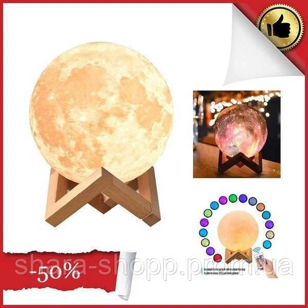 Лампа Луна 3D Moon Lamp Настольный светильник луна Magic 15 см 3DСвеночник светильник на сенсорном управлении