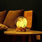 Лампа Луна 3D Moon Lamp Настольный светильник луна Magic 15 см 3DСвеночник светильник на сенсорном управлении, фото 3