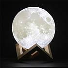 Лампа Луна 3D Moon Lamp Настольный светильник луна Magic 15 см 3DСвеночник светильник на сенсорном управлении, фото 5