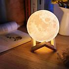 Лампа Луна 3D Moon Lamp Настольный светильник луна Magic 15 см 3DСвеночник светильник на сенсорном управлении, фото 10