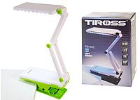Настольная светодиодная лампа трансформер Tiross TS-1822 Green c зажимом аккумуляторная 1000 mAh, 24 smd LED