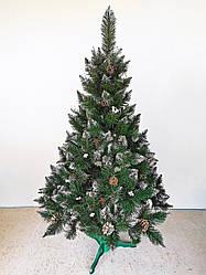 Елка с белой калиной и шишками 2,0 м Рождество с белыми кончиками