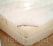 Наматрасник стеганый/хлопок ( резинка по углам) 100*200 (TM Mislina), Турция