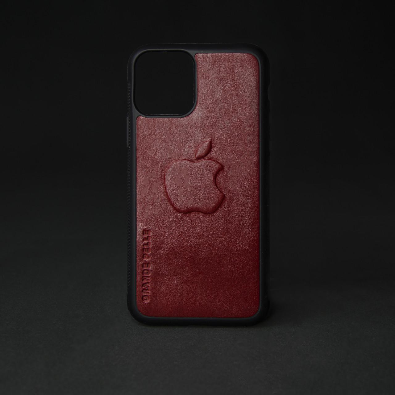 Кейс для IPhone, червоний глянець, з металевою вставкою для автотримача