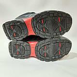 Зимові кросівки шкіряні чоловічі на хутрі Чорні, фото 7