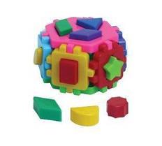 """Игрушка куб """"Умный малыш Гексагон 2 ТехноК"""" (сортер) 1998"""