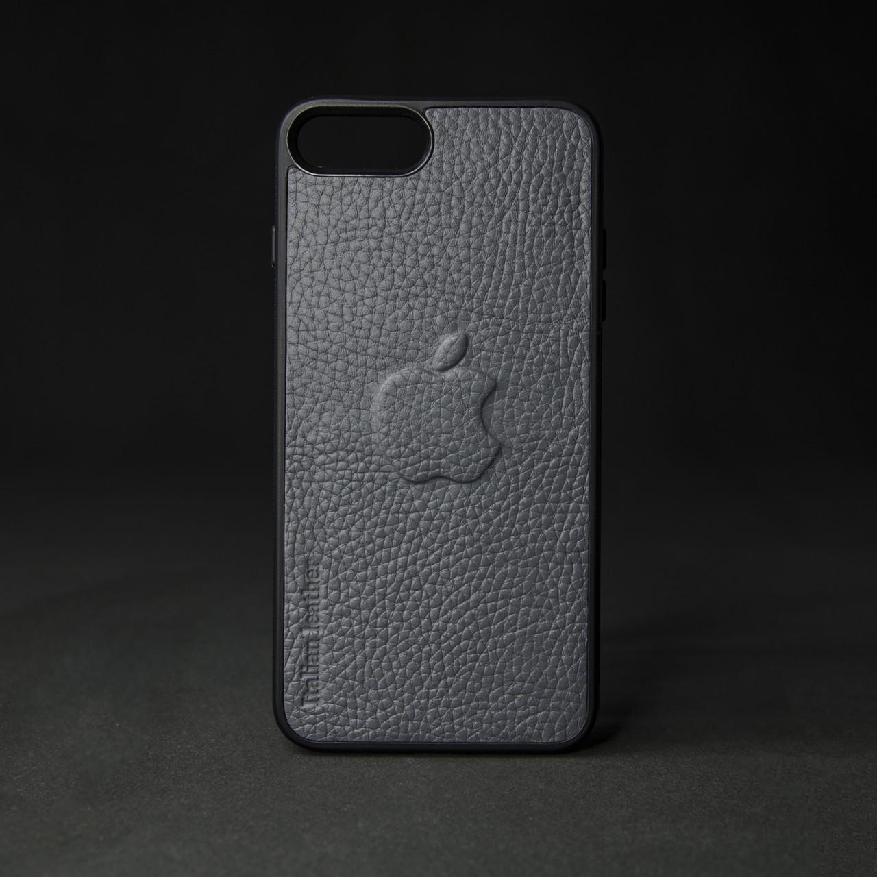 Кейс для IPhone, сірий з металевою вставкою для автотримача