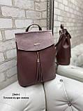 Женский рюкзак кожзам/натуральная замша комбинированный качество люкс/2545-1, фото 2