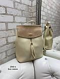 Женский рюкзак кожзам/натуральная замша комбинированный качество люкс/2545-1, фото 4