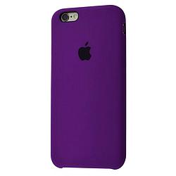 Чехол Silicone Case (Premium) для iPhone 6 / 6s  Brinjal