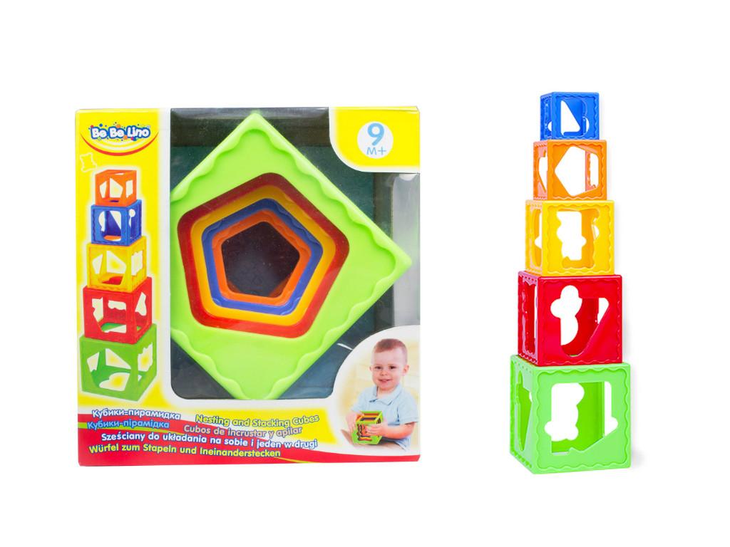 Кубики-пирамидка раскладной 57028