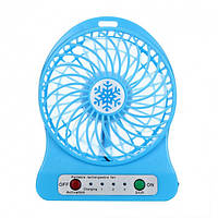 Переносной портативный вентилятор Ручной и Настольный UTM Синий