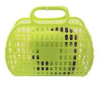 Корзинка с посудкой, 13 предметов (салатовая) 04-469