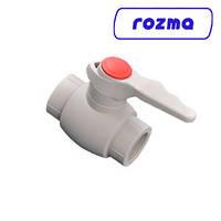 Кран 40 полипропиленовый шаровый Rosma, фото 1