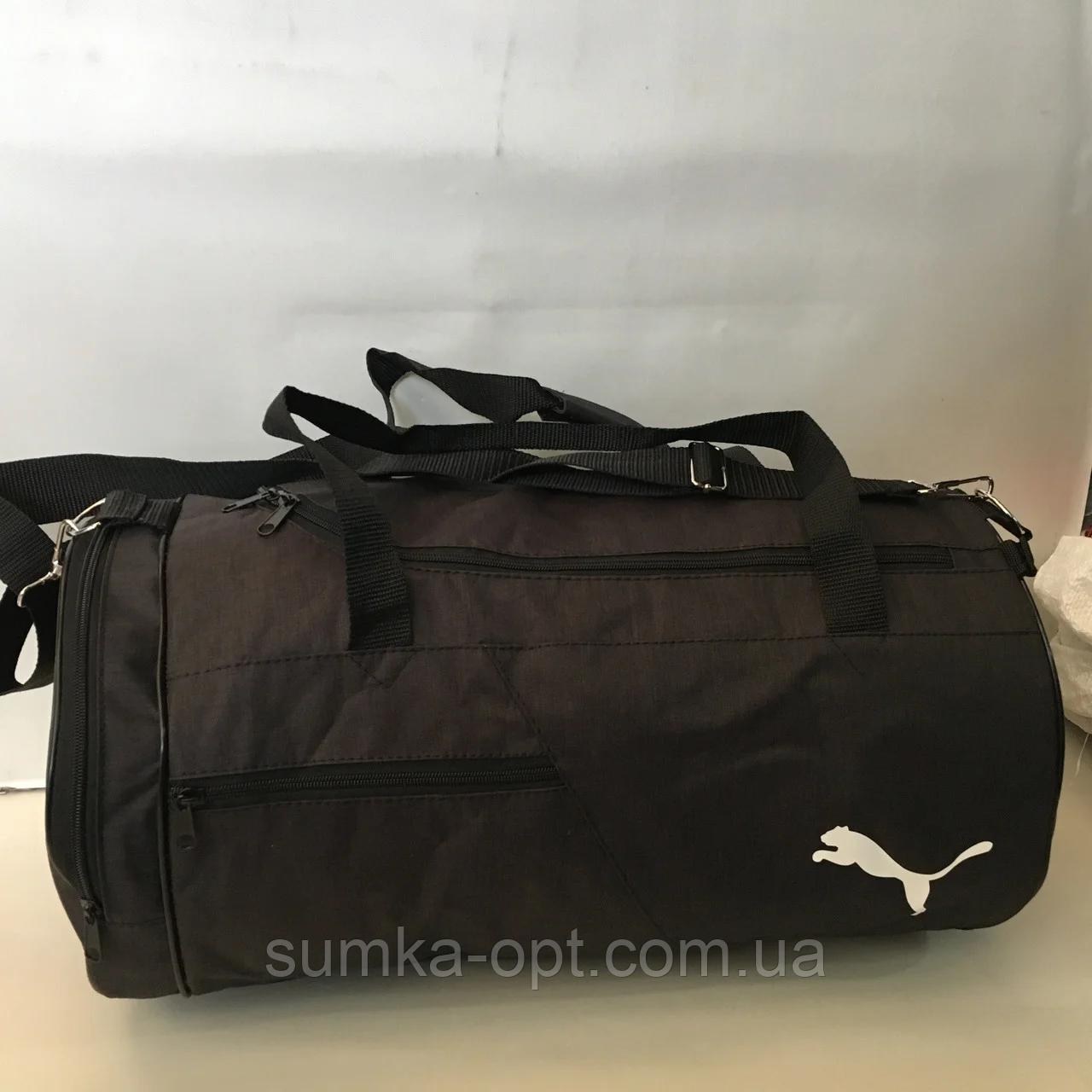 Спортивные сумки в ассортименте на 3отделения  (ЧЕРНЫЙ)22Х26Х47