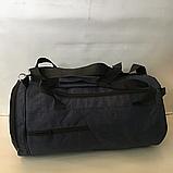 Спортивные сумки в ассортименте на 3отделения  (ЧЕРНЫЙ)22Х26Х47, фото 5