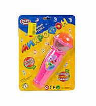 Микрофон музыкальный (розовый) 7043