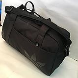 Спортивные сумки Adidas (ЧЕРНЫЙ)20х26х48см, фото 4