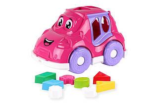 Машинка-сортер с фигурками (розовая) 5927