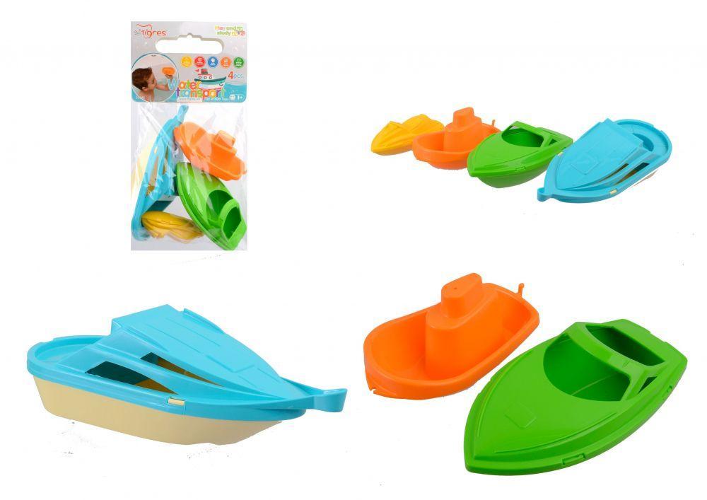 """Набор игрушек для купания """"Водный транспорт"""" (4 шт) 39546"""