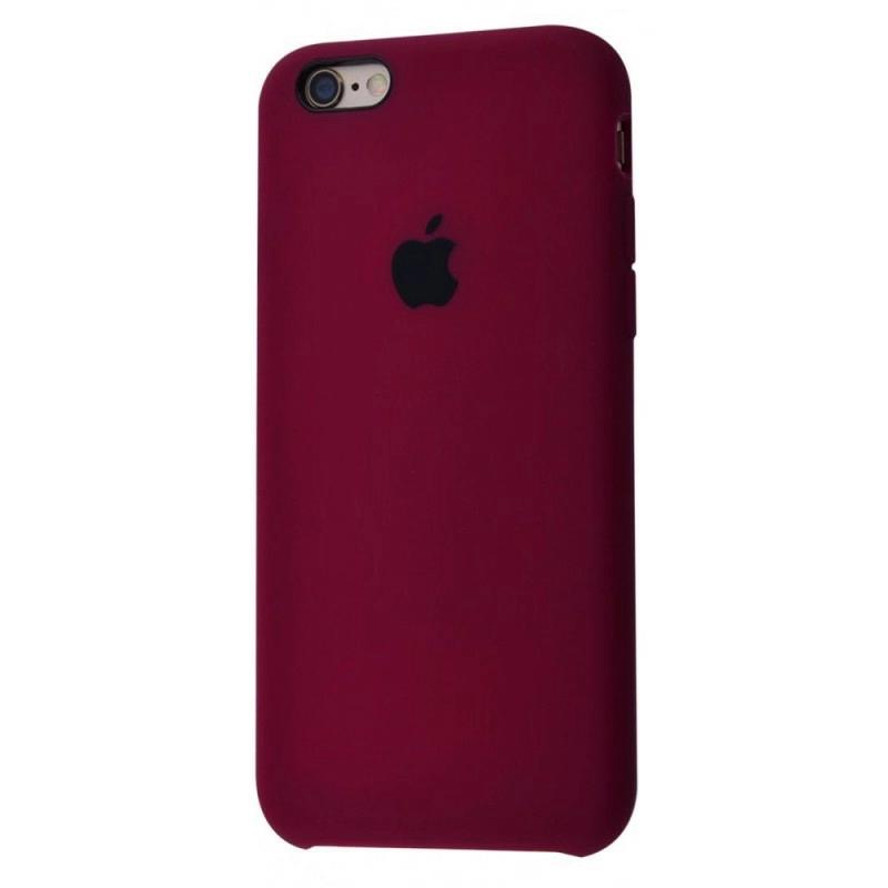 Чохол Silicone Case (Premium) для iPhone 6 / 6s Marsala
