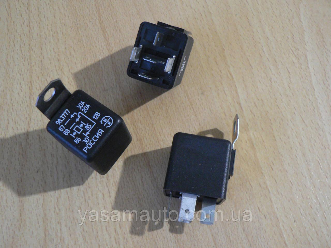 Реле 5 контактное 30А универсальное 98.3777 12В ЭМИ Пенза с кронштейном ухом под фишку крест 1шт