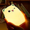 Ночной светильник силиконовый Котик Sleep Lamp 7 режимов цветов, фото 3