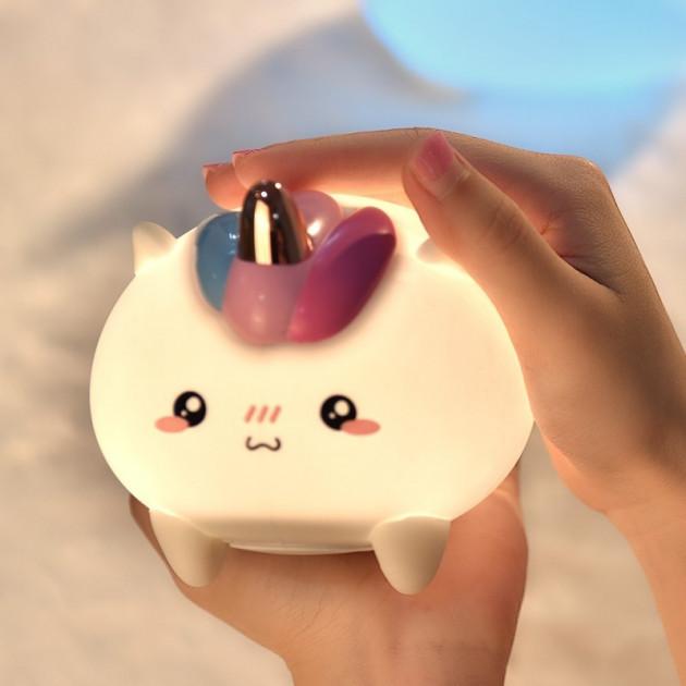 Силиконовый светильник-ночник детский Единорог 3DTOYSLAMP